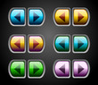 vector audio buttons