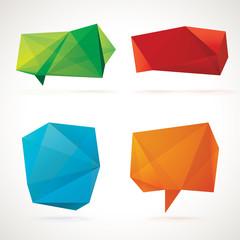 3d origami bubbles