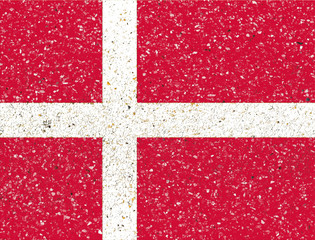 Denmark flag on sand stone background