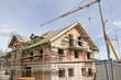 Baustelle eines Mehrfamilienhauses, Bayern