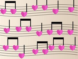 Partition musique amour