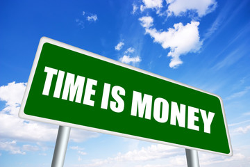 Time is money illustrated sign