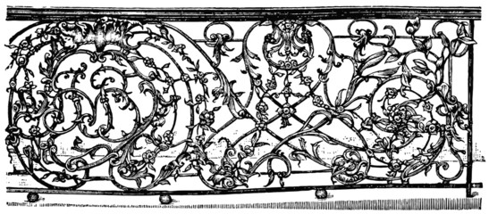Figure balcony railing, Vienna, 18th century
