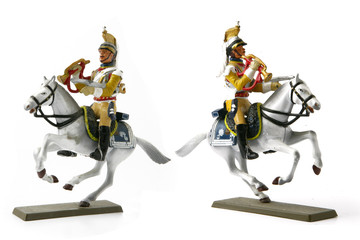 Two cavalier figurines