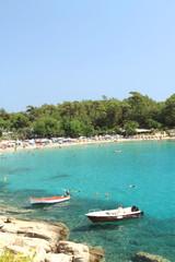 Aliki beach , in Thasos island - Greece