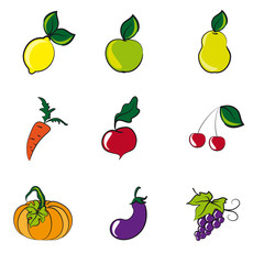 vegetables, fruits