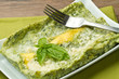 lasagna with pesto sauce
