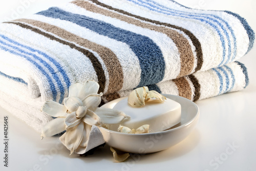 Towel with soap