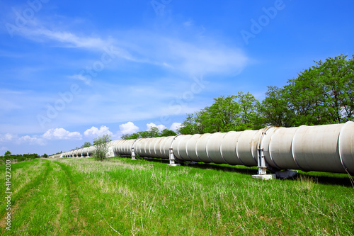 Leinwandbild Motiv Industrial pipe with gas and oil