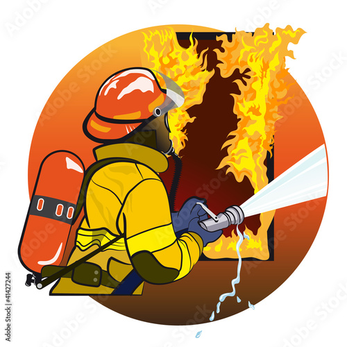 Spoed canvasdoek 2cm dik Superheroes Firefighter