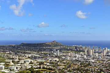 View of Honolulu from Puu Ualakaa State Park.