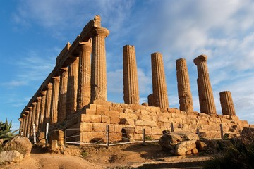 Hera (Juno)  temple in Agrigento, Sicily, Italy