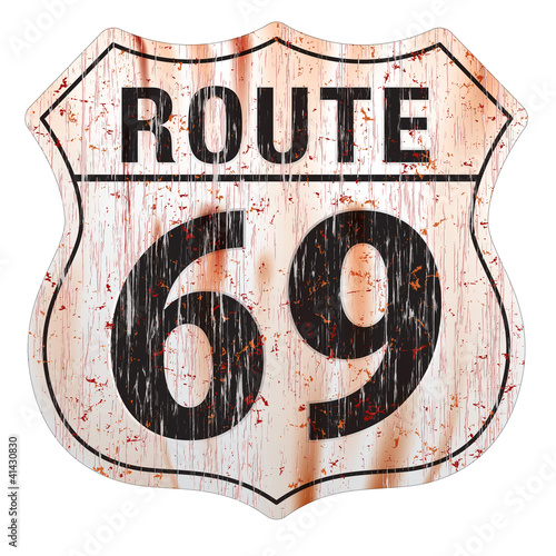 Route Sixty Nine Grunge Sign.