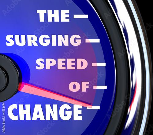 The Surging Speed of Change Speedometer Tracks Evolution