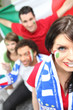 Italian fans ready to watch the match