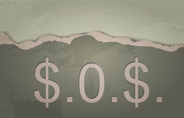 SOS. The concept of Dollar