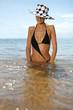 Stylish woman in a bikini