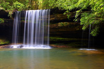 Upper Caney Creek Falls in Alabama