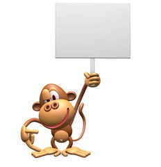 White panel and monkeys 3