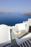 Fototapety Classical Greek architecture of the streets in Oia