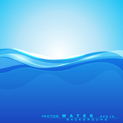 Abstract background with water waves and sun light for save wate