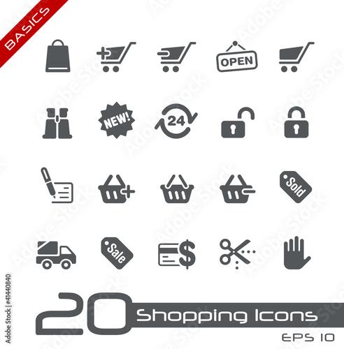 Shopping Icons // Basics