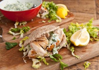 Homemade fastfood - chicken wrap