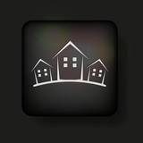 Vector real estate icon on black. Eps10