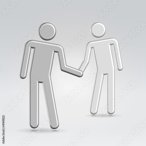 Shaking hand business concept