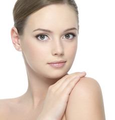Healthy clean skin of woman