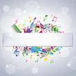 musique avec cadre central