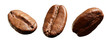 Three coffee beans.