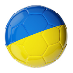 Soccer ball. Flag of Ukraine