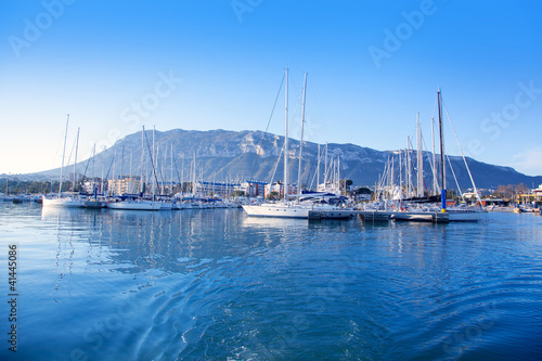 Alicante Denia marina on blue mediterranean