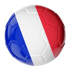 Soccer ball. Flag of France