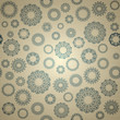 Seamless elegant pattern with round lace elements