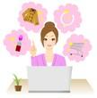 ネットショッピング 女性
