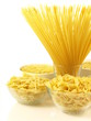 Pasta in bowl, isolated