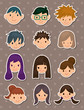 young poeple face stickers