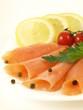 Salmon appetizer, closeup