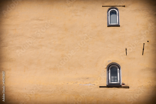 Window in old medieval building