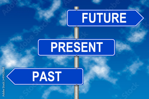 Past Present Future  sign