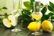 limoncello and green apple grappa
