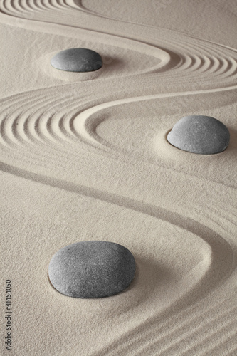 Fototapeten,zen,sand,steine,kieselstein