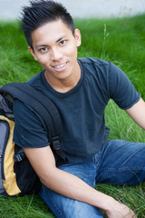 young male asian student
