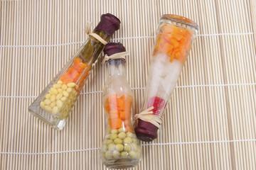 Decorative preserved vegetables