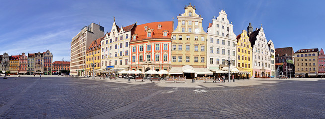 Market square, Wroclaw, Poland - Stitched Panorama