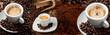 Leinwandbild Motiv Espresso banner
