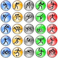 Sport Simboli Olimpiadi-Olympic Simbols Crystal Web Icons-Vector