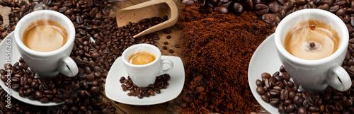 Fotobehang Cafe Espresso banner